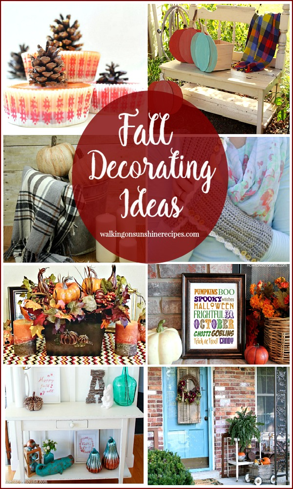 Beautiful Decorating Ideas for Fall and a Party from Walking on Sunshine Recipes