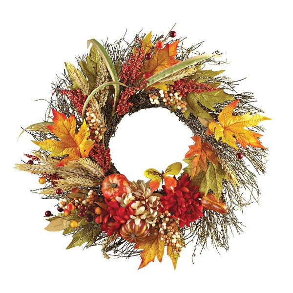Fall Floral Mix Wreath