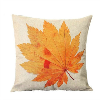 Fall Leaf Pillow Cover featured on Walking on Sunshine.