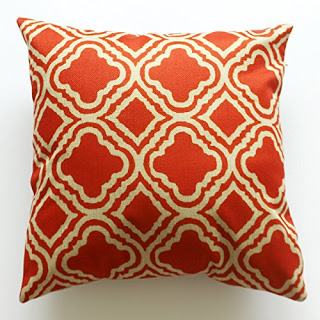 Fall Orange Geometric Pillow Cover featured on Walking on Sunshine.