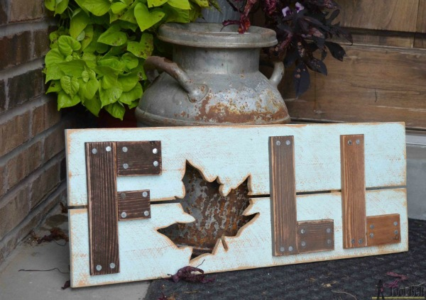 Fall Wooden Sign from Her Tool Belt