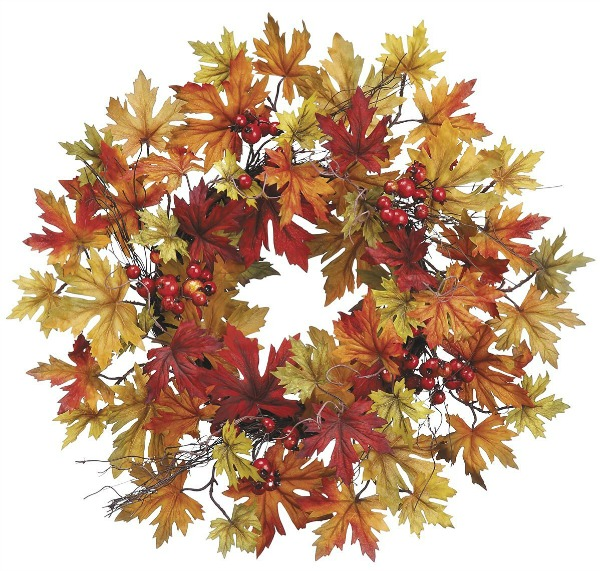 Fall Wreath with Fall Berries