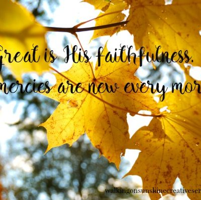 Great is His Faithfulness – Lamentations 3:22-23