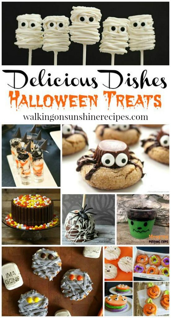 Halloween Treats Delicious Dishes featured on Walking on Sunshine Recipes