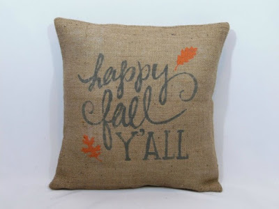 Happy Fall Ya'll Pillow Cover featured on Walking on Sunshine.