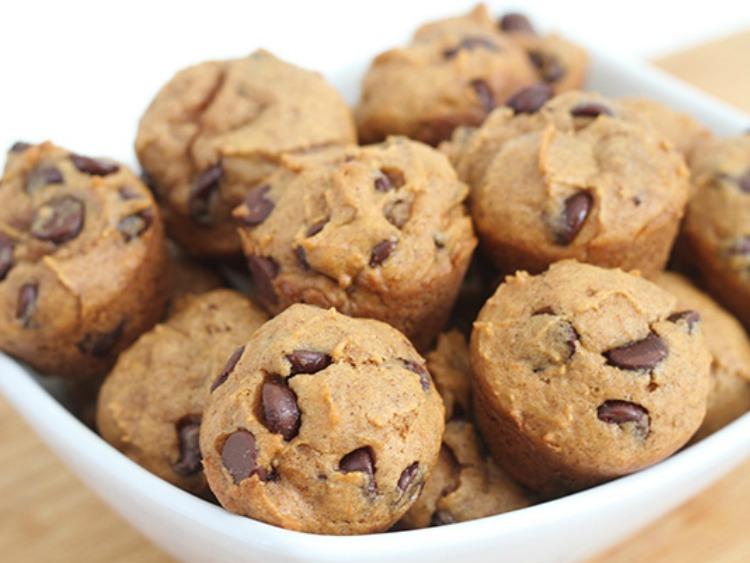 Mini Pumpkin Chocolate Chip Muffins from Two Twenty One