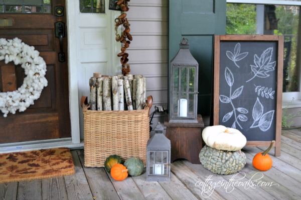 Oversized Chalkboard and Lanterns from Cottage in the Oaks