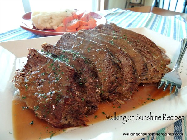 How to make home-styled pot roast for Sunday dinner from Walking on Sunshine Recipes.
