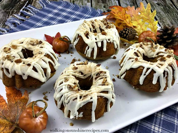 Pumpkin Spice Mini Bundt Cakes from Walking on Sunshine Recipes