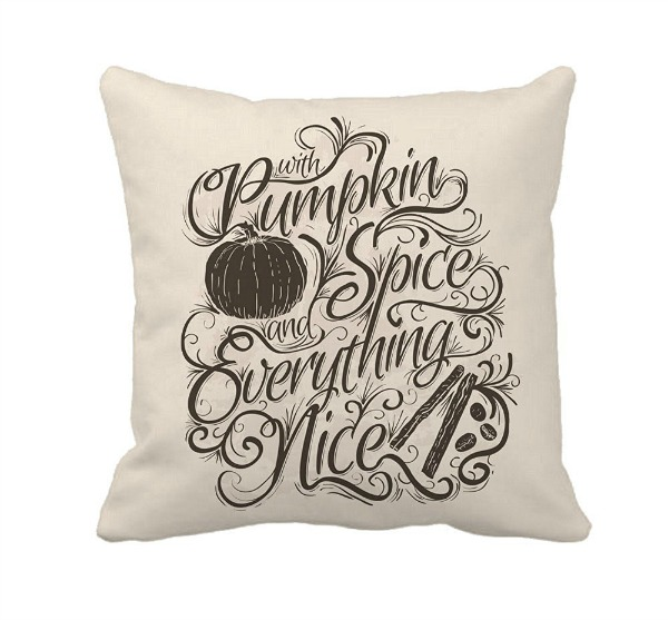 Pumpkin Spice Pillow featured on Walking on Sunshine