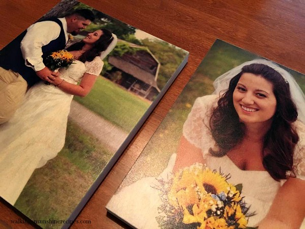 Wedding pictures and photo boards from Walking on Sunshine Recipes.