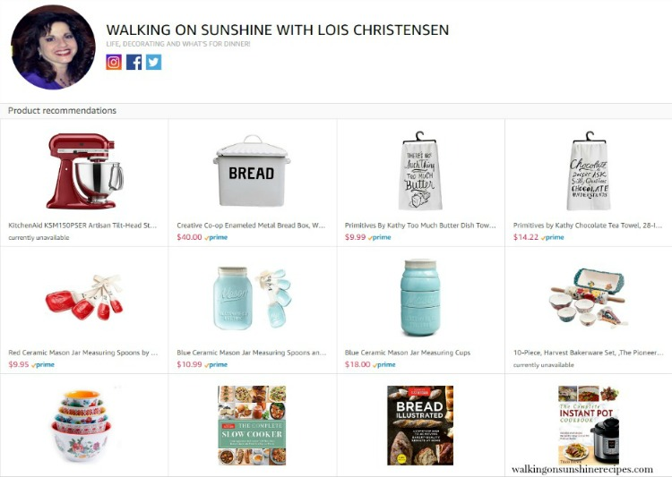 Shop with me and my Amazon Influencer Shop from Walking on Sunshine Recipes