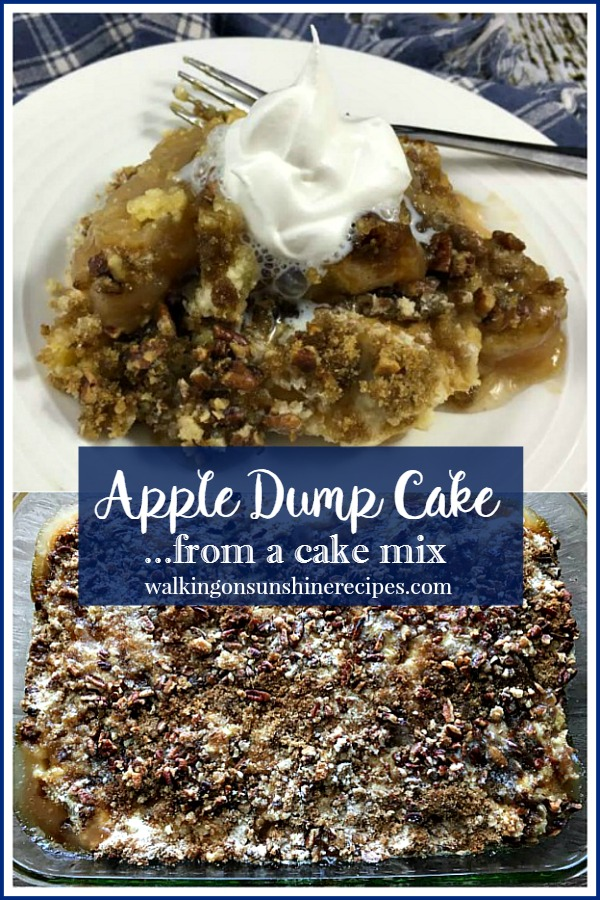 Apple Dump Cake from a Cake Mix from Walking on Sunshine Recipes