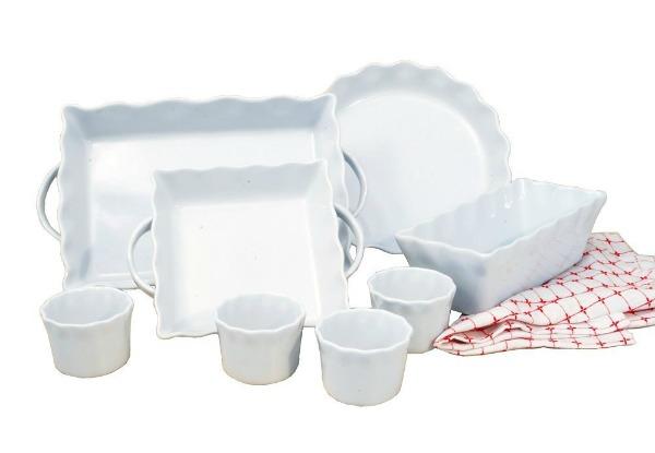 8 piece baking set in white