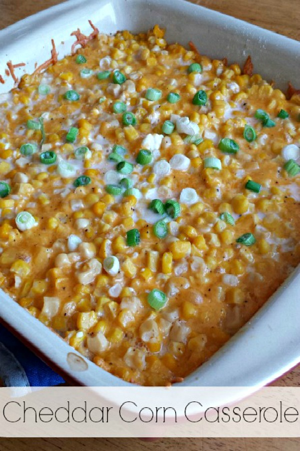 Cheddar Corn Casserole from Clever Housewife