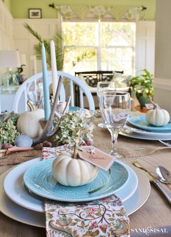 Coastal Thanksgiving Table from Sasnd and Sisal