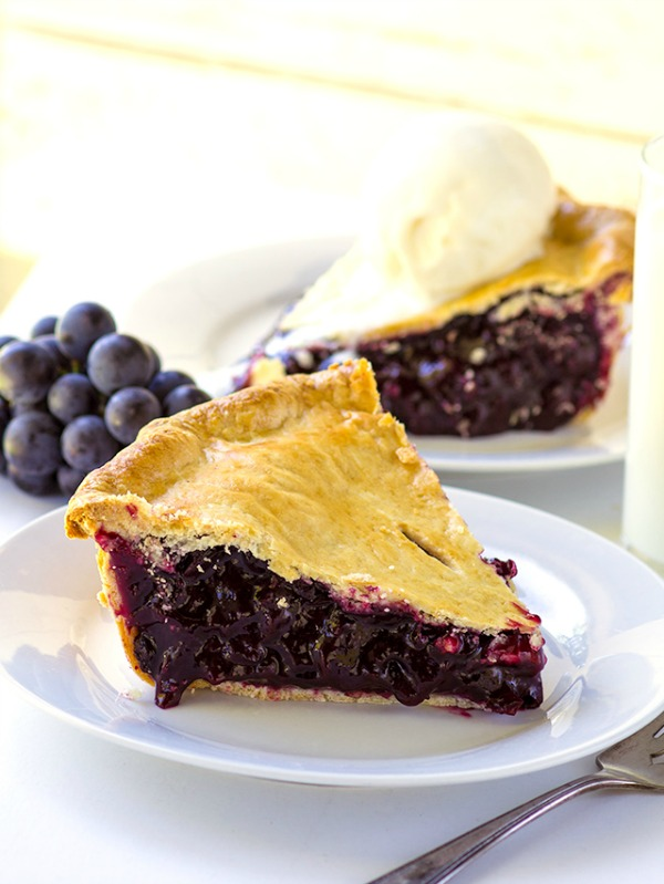 Concord Grape Pie from Cookie Dough and Oven Mitt