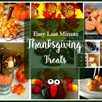 How to Make Easy Last Minute Thanksgiving Treats