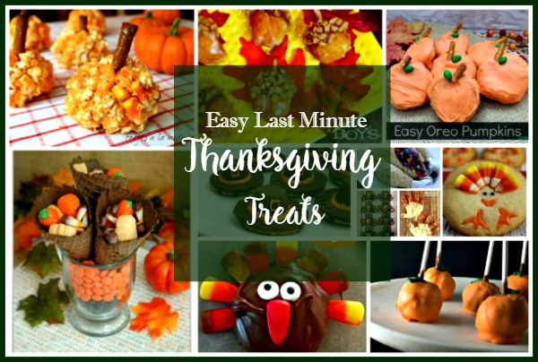 Easy Last Minute Thanksgiving Treats featured on Walking on Sunshine Recipes