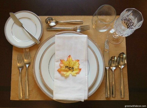 Easy Thanksgiving Place Setting by Green with Decor