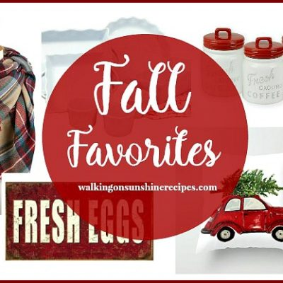Red and White Favorites for Fall