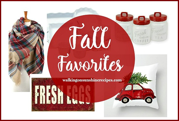 Shopping: Red and White Favorites for Fall from Walking on Sunshine Recipes