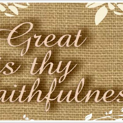 Scripture Sunday: Lamentations 3:22-23