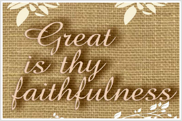 Great is thy Faithfulness free printable from Walking on Sunshine