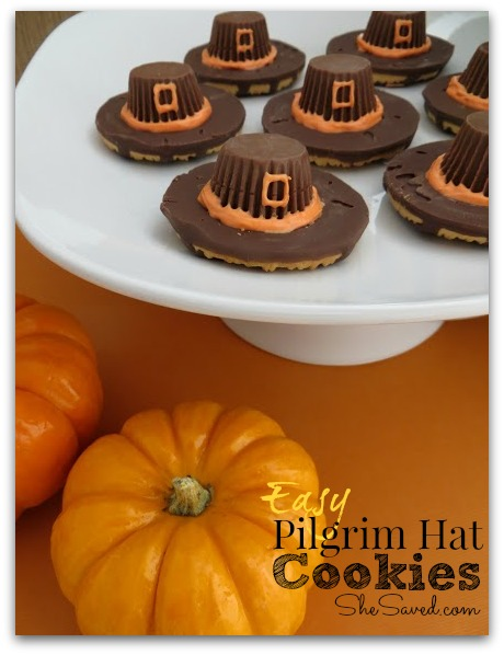 Pilgrim Hat Cookies from She Saved