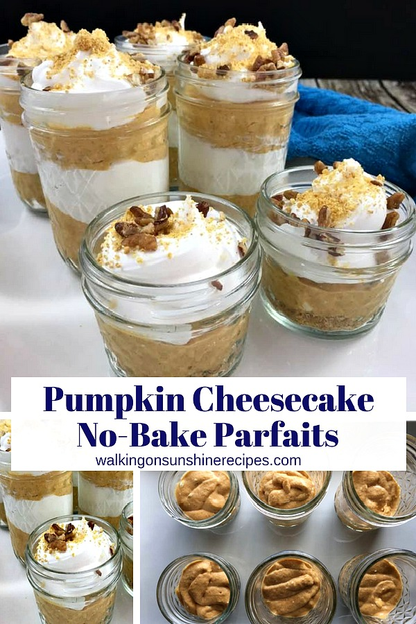Pumpkin Cheesecake No Bake Parfaits