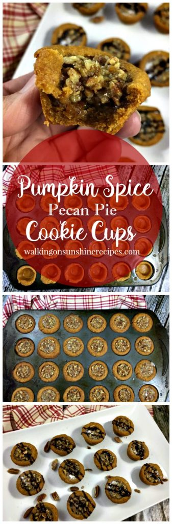 Pumpkin Spice Pecan Pie Cookie Cups from Walking on Sunshine Recipes LONG Promo