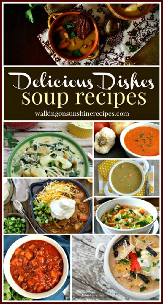 Comforting Soup Recipes from Walking on Sunshine Recipes