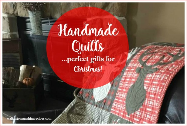 Christmas:  Handmade Quilts by STITCHED the Perfect Gift featured on Walking on Sunshine.