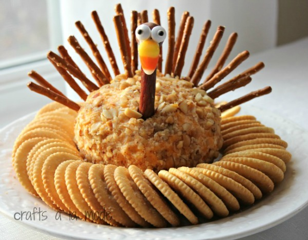 Turkey Cheese Ball from Crafts a la Mode