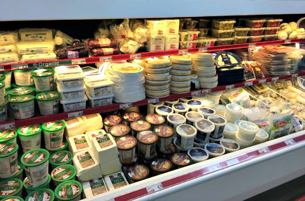 Assortment of cheeses available at BJ's Wholesale Club featured on Walking on Sunshine Recipes