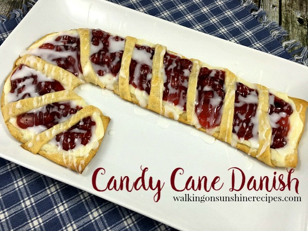 Candy Cane Cream Cheese Danish from Walking on Sunshine.