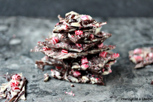 Chocolate Peppermint Bark from Cravings of a Lunatic