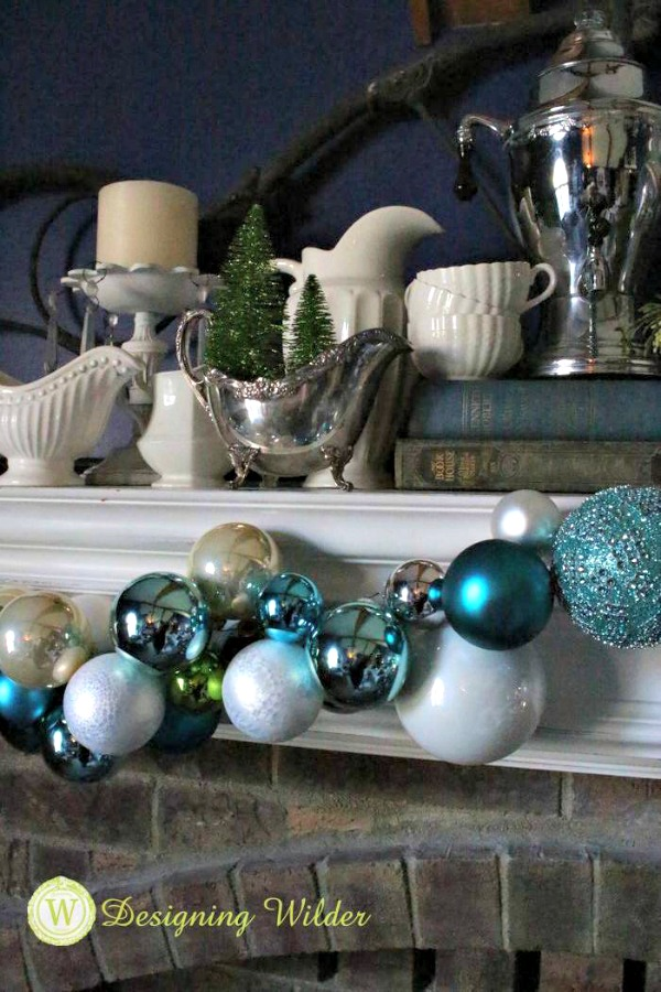 Christmas Ornament Mantel Garland from Designing Wilder