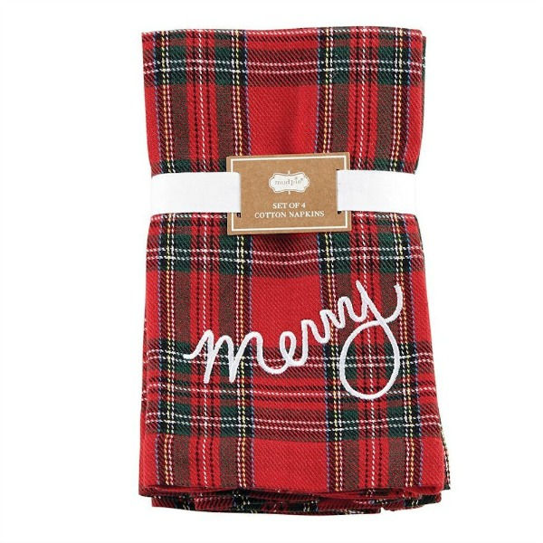 Red Plaid Merry Napkins
