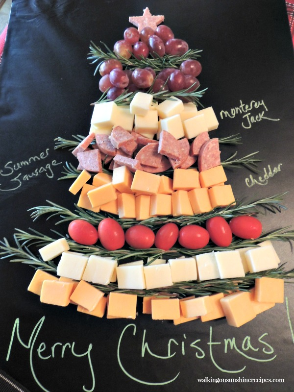 Christmas Tree Cheese Board from Walking on Sunshine.