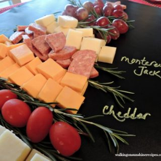 Christmas Tree Cheese Board Platter