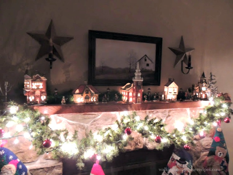 decorating the mantel for christmas