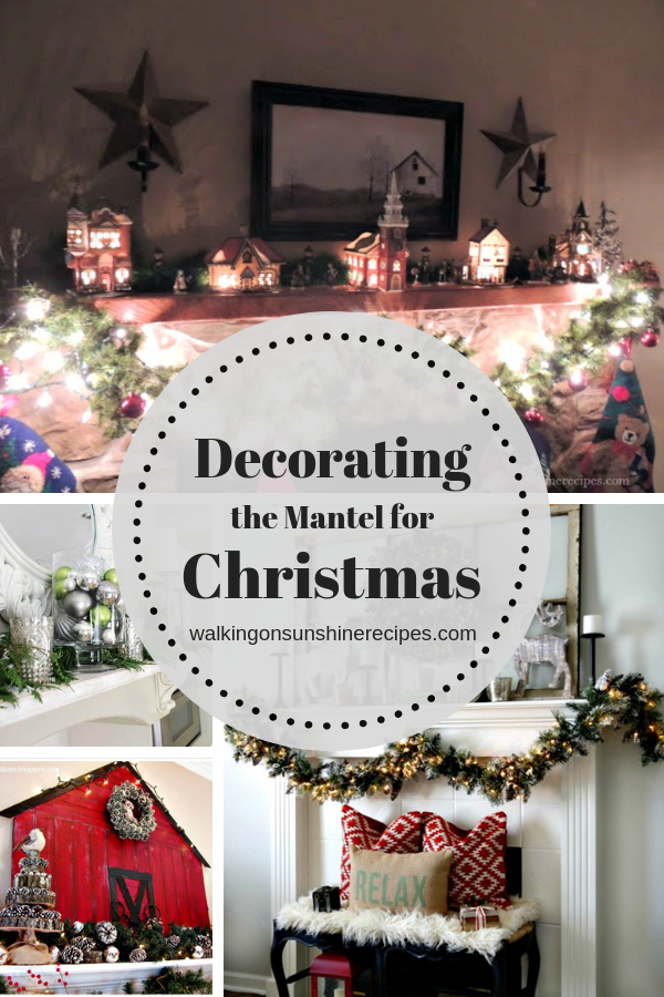 Decorating the mantel for Christmas with beautiful ideas and collections found around the house.