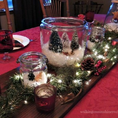 How to Set the Table using Christmas Terrariums