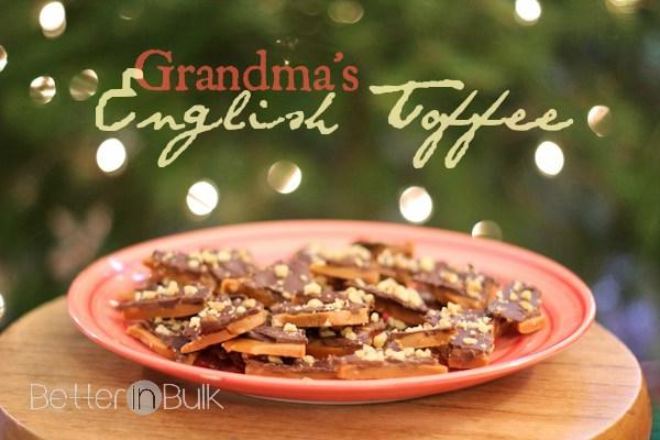 Grandma's English Toffee from Food Fun Family