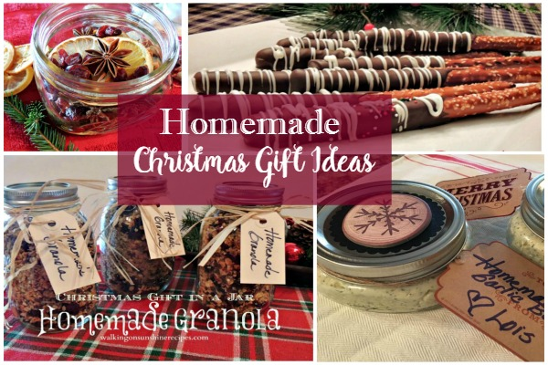 Here are a few last minute ideas for homemade gifts for you to give to family and friends this Christmas from Walking on Sunshine.
