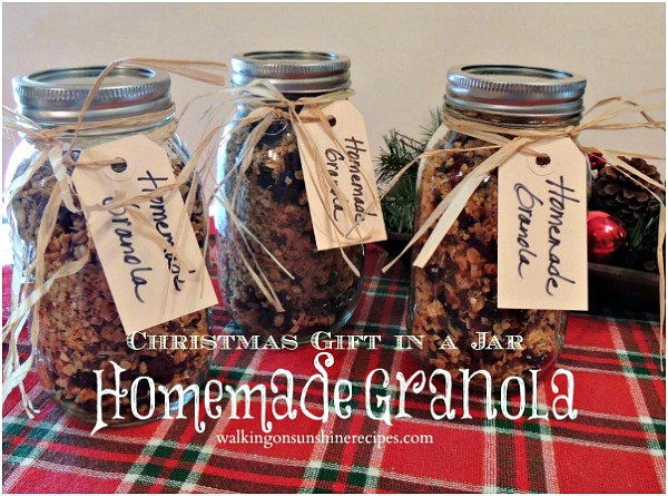 Homemade Granola from Walking on Sunshine.