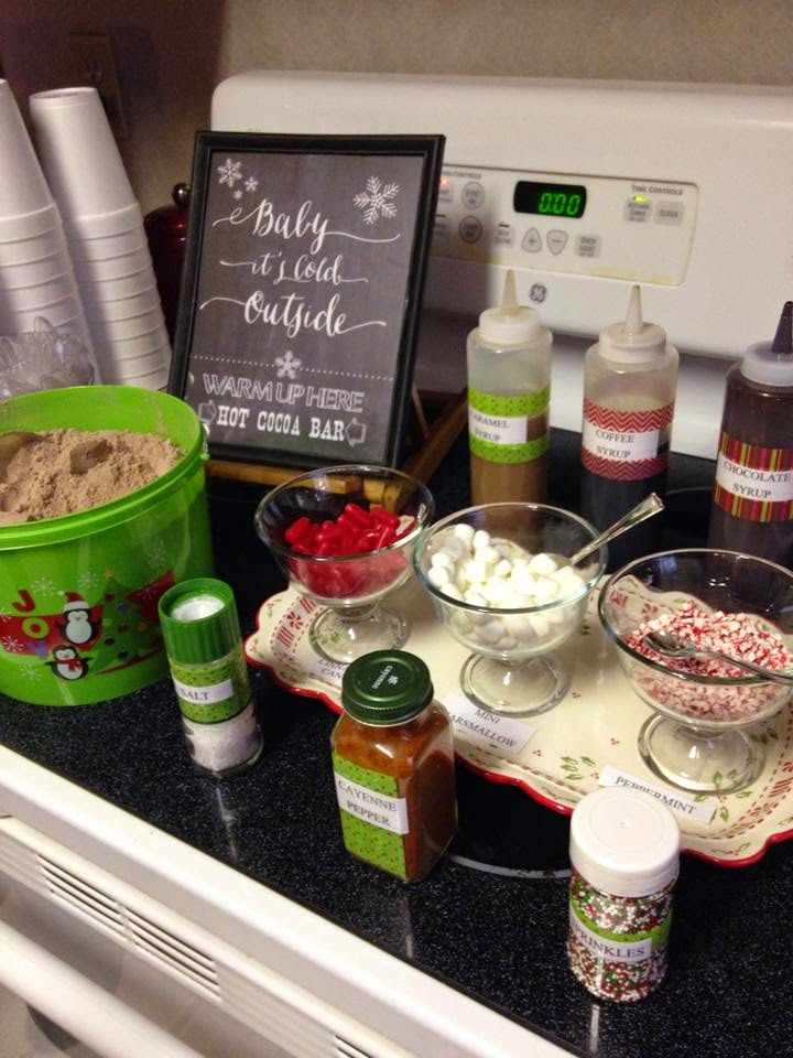Hot Cocoa Bar for Cookie Exchange Party