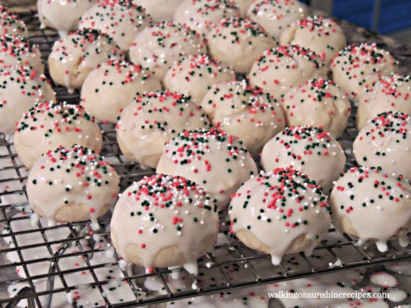 Italian Ricotta Cookies are a favorite for Christmas from Walking on Sunshine Recipes.