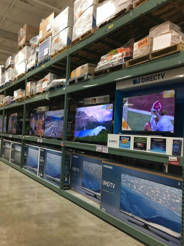 Large Screen TVs available at BJ's Wholesale Club featured on Walking on Sunshine Recipes